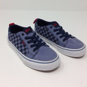 Like New Vans Checkered Elasticated Lace Up Shoes